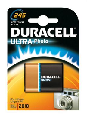 Duracell Ultra Photo 245 Nickel-Oxyhydroxide (NiOx) 6V non-rechargeable battery