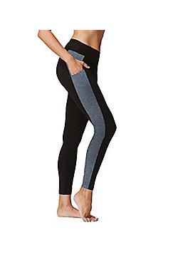 Flattering Ladies Slimming Leggings with Side Pockets - Grey & Black