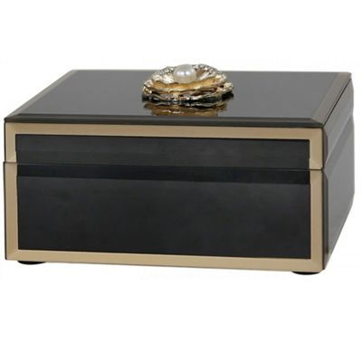 Isla - Decorative Jewellery Box / Trinket Storage - Black / Gold