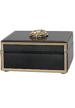 Isla - Decorative Jewellery Box / Trinket Storage - Black / Gold