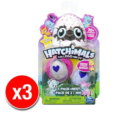 Hatchimals Colleggtibles with Nest Playset Pack of 2 (3 Supplied)