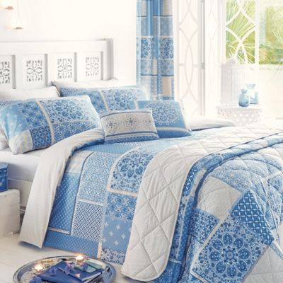 Dreams n Drapes Shantar China Blue Duvet Cover Set - King
