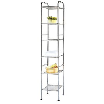 Techstyle Six Tier Metal Storage Shelves