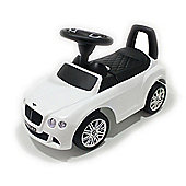 Licensed Bentley Ride On Car - Push Along Car White