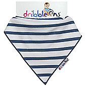 Dribble On Designer Print Bib - Nautical Stripe