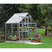 Halls 6x4 Popular Aluminium Greenhouse + Aluminium Base-frame - Horticultural Glass