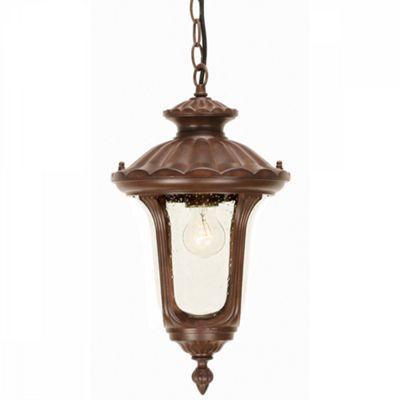 Rusty Bronze Patina Chain Lantern Small - 1 x 100W E27