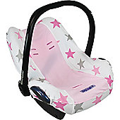 Dooky Infant Car Seat Cover 0+ Pink Stars