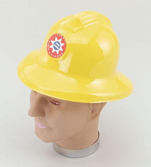Fireman Helmet Yellow plastic
