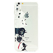 iPhone 6 Plus Cute Cats Illustration Slim Clear Silicone Case - Multi