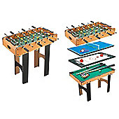 Homcom 4-in-1 Multi Game Table with Tennis Billiard Foosbal Hockey Table Football