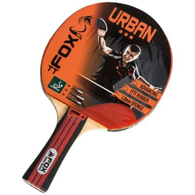 Fox Urban 3 Star Table Tennis Bat With Flared Handle - ITTF Approved
