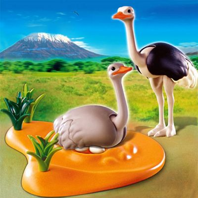 Playmobil - African Wildlife Ostrich Family with Nest 4831