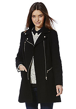 F&F Zip Detail Coat - Black