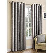Hugh - Silver - Eyelet Curtains - Silver