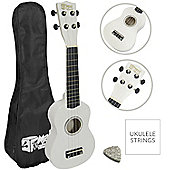Soprano Ukulele in White with Uke Bag