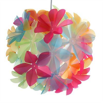 Pretty Flower Ball Ceiling Pendant Light Shade, Multi Coloured