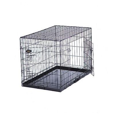 PGO Dog Cage Puppy Crate - Black XLarge 42