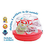 Clevamama Microwave Soother Dummy Tree Steriliser + 2 FREE Soothers