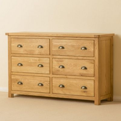 Roseland Oak 6 Drawer Chest
