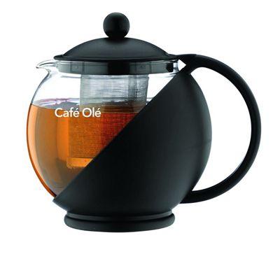Café Ole Black 1250ml Teapot with Infuser