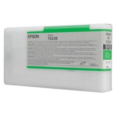 Epson T653B UltraChrome K3 Ink Cartridge - 200ml (Green) for Epson Stylus Pro 4900