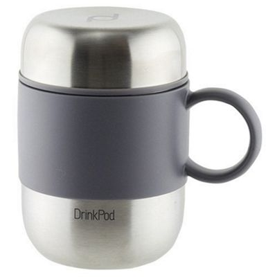 Grunwerg Pioneer Vacuum Insulated Drink Pod Mug with Handle Stainless Steel 280ml