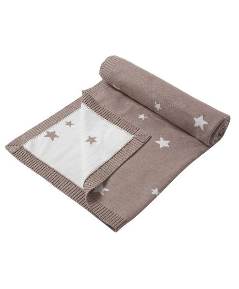 Mamas & Papas - Millie & Boris - Small Knitted Star Blanket