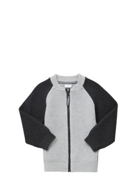 F&F Bomber Cardigan 4-5 yrs Grey