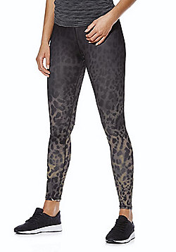 Only Play Animal Print Cropped Training Tights - Grey