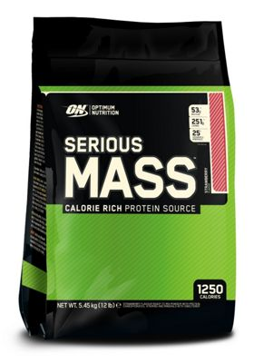 Optimum Nutrition Serious Mass 5.45kg - Strawberry