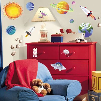 Childrens Wall Stickers - Outer Space