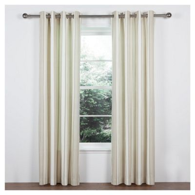 Tesco Ticking Stripe Lined Eyelet Curtains W168xL137cm (66x54