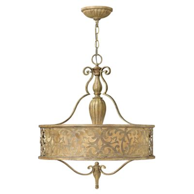 Brushed Champagne Pendant Chandelier - 3 x 100W E27