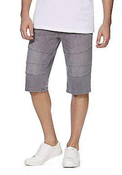 F&F 3/4 Length Denim Shorts - Grey