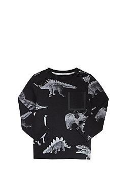 F&F Dinosaur Print Long Sleeve T-Shirt - Black