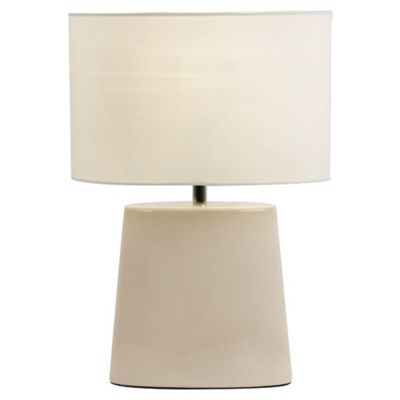 Endon Lighting Ceramic Table Lamp with Crackle Glaze Effect - Taupe