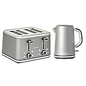Brabantia BQPK10 Platinum Breakfast Kettle and 4 Slice Toaster Set
