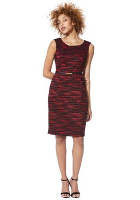 Solo Belted Pencil Dress Red 10