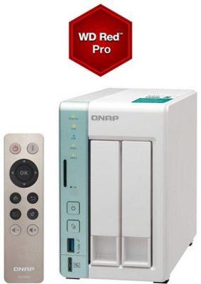 QNAP TS-251A-4G/12TB-RED PRO 2-Bay 12TB(2x6TB WD Red PRO) Dual-core NAS