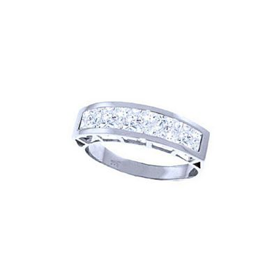 QP Jewellers 2.25ct White Topaz Prestige Ring in 14K White Gold - Size M 1/2