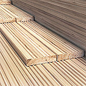 BillyOh 4.8 metre Pressure Treated Wooden Decking (120mm x 28mm) - 45 Boards 216 Metres