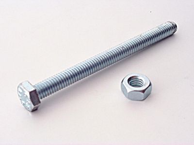 Basic 042682 Hex Nuts&Bolts M10X25mm X8