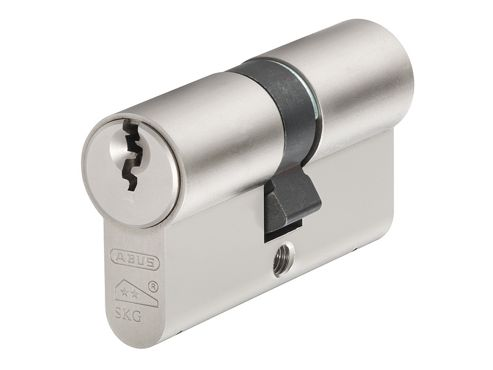 ABUS Mechanical E60NP Euro Double Cylinder Nickel Pearl 45mm / 55mm Box