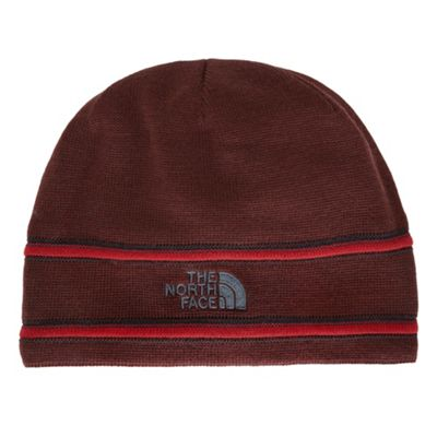 The North Face TNF Logo Beanie Sequoia Red/Asphalt Grey One Size