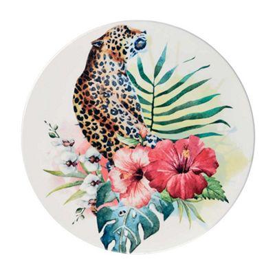 Bahne Ceramic Tile Round Panther Print