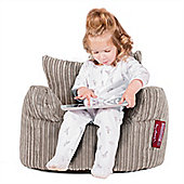 Lounge Pug® Toddlers Armchair Bean Bag - Cord Ivory