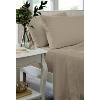 Catherine Lansfield Cream Box Pleated Fitted Valance - Double