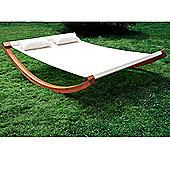 Outsunny Garden Wood Frame Hammock Swing Bed