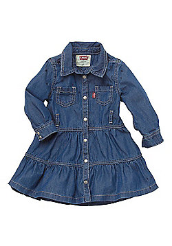 Girls Levis Nicky Dress - Indigo - 3M,6M,9M,12M,18M,24M - Blue
